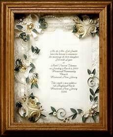 Framed Wedding Invitation framed wedding invitation wedding gift framed ivory wedding