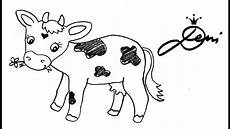 Kuh Schnell Zeichnen Lernen Bauernhof Tiere How To