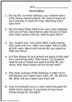 math word problems worksheets all operations 11364 free math word problem worksheets for fifth graders