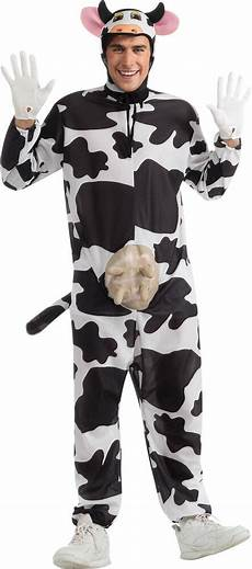 Comical Cow Costume Animal Theme Rubber Udder