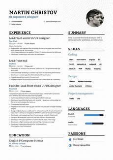 download front end developer resume exle for 2020