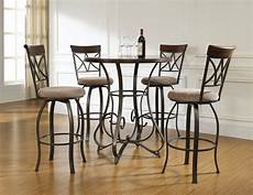 bar set powell 5 piece hamilton pub set cherry table and 4