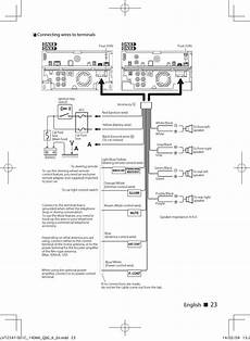 english с с connecting wires to terminals kenwood dnx691hd user manual page 23 56