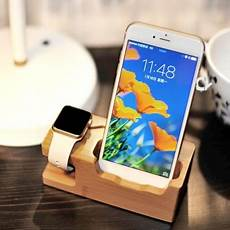 Bakeey Bamboo Multi Function Charger Dock by Bakeey Bamboo Multi Function Charger Dock Deal Brumpost