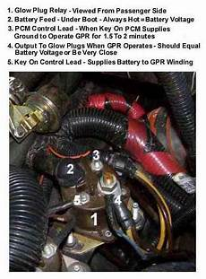 f 250 powerstroke glow plugs wiring diagram glow relay wiring diagram ford truck enthusiasts forums