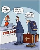 Atheist Airlines  Born Again Pagan Cartoons