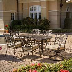 outdoor dining furniture hanover outdoor furniture traditions 7 bronze metal