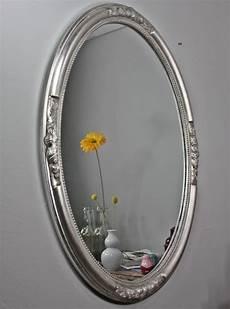 wandspiegel spiegel oval silber barock holz verzierungen