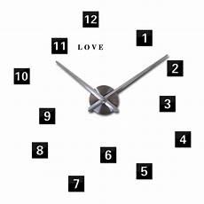 letters square 3d diy oversize clock arabic digital