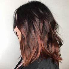 coloration chatain reflet cuivré balayage cuivre cheveux bruns hairspiration en 2019