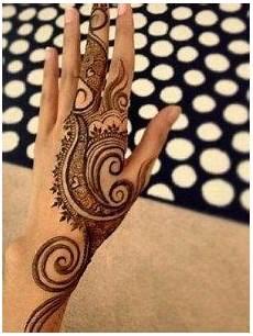 41 Gambar Henna Simple Untuk Lebaran Paling Populer