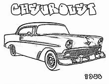Muscle Car 1956 CHEVROLET Old Coloring Page  Sky