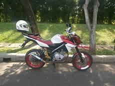 Modifikasi Motor Seperti Sepeda by Modifikasi Yamaha New Vixion Jadi Supermoto Keren 2016