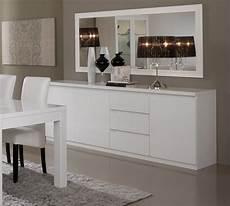 bahut salle à manger buffet bahut design 3 portes 3 tiroirs laqu 233 blanc cristal