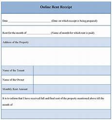 receipt template for online rent sle of online rent receipt template sle templates