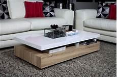 table basse laqu 233 blanc et bois id 233 es de d 233 coration