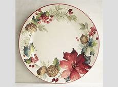 Berry Christmas Poinsettia Dinner Plate   Pier 1 Imports