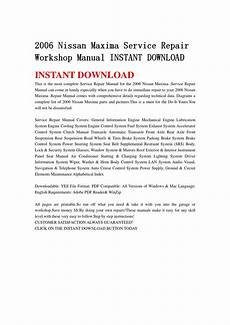 service and repair manuals 2006 nissan maxima instrument cluster 2006 nissan maxima service repair workshop manual instant download by jsefgsebh issuu