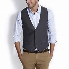 Gilet De Costume En Tweed Gris Fantaisie Homme La Mode
