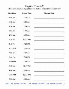 time measurement worksheets for grade 5 1833 elapsed time one minute intervals a