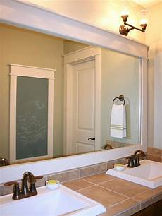 How To Frame Existing Bathroom Mirror how to frame a mirror hgtv