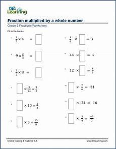multiplication of fraction worksheet for grade 5 4221 worksheets multiplying fractions by whole numbers missing factors k5 learning