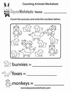 animals worksheets for kindergarten 14059 free printable counting animals worksheet for preschool