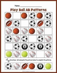 sports balls worksheets 15755 free printable sports balls ab pattern worksheet ab patterns ab pattern worksheet pattern