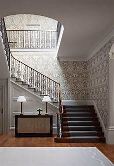 hall stairs and landing wallpaper in 2019 luxury