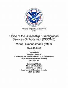 fillable online dhs department of homeland security privacy impact assessment citizenship and