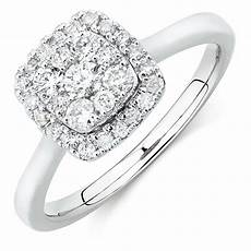engagement ring with 1 2 carat tw of diamonds in 10kt