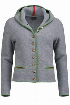 strickjacken mit kapuze damen trachten strickjacke mit kapuze grau gr 252 n fiona jacken