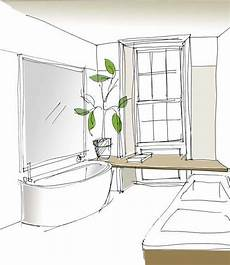 Bathroom Ideas Drawing by Emily Bizley Interior Design Bathroom Sketch Interior