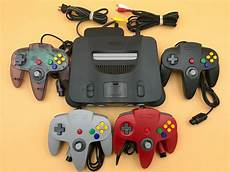 new n64 console n64 nintendo 64 console up to 4 new controllers cords