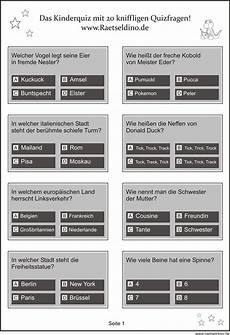 Malvorlagen Grundschule Quiz Quizfragen Mit Antworten Zum Ausdrucken Kostenlos