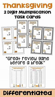 multiplication explanation worksheets 4388 thanksgiving math task cards for 2 digit by 2 digit multiplication math task cards task cards