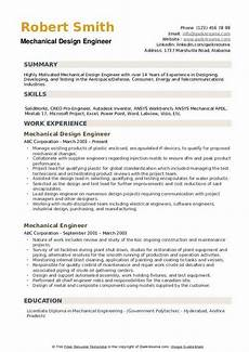 mechanical design engineer resume sles qwikresume