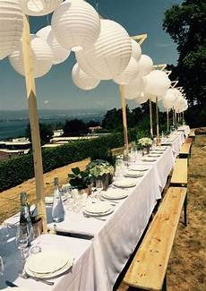 mariage en exterieur mariage blanc lions lanternes mariage ext 233 rieur table de f 234 te inspirations d 233 co de
