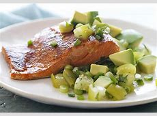 chili rubbed salmon with cilantro avocado salsa_image