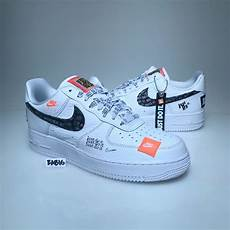 nike air one nike air 1 one low 07 prm jdi just do it white black