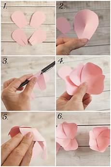 Papierblumen Basteln Anleitung - paper flower tutorial decorations paper flowers diy