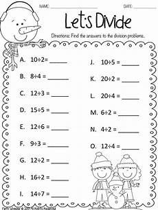 free division worksheets for 2nd grade 6821 snow and freebies math homeschool math