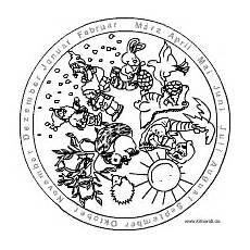 Malvorlage Jahreszeiten Mandala Mandalas Zum Themenbereich Kindergarten Und Schule Im