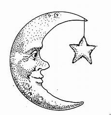 Malvorlagen Mond Und Sterne Mond Mit Ausmalbild Malvorlage Comics