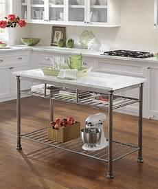 home styles orleans kitchen island with quartz white top