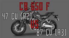 Honda Cb 650 F Accelleration 35kw Vs 64kw A2 Vs A3