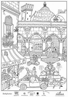 coloring pages places in town 18038 icolor quot places quot kleurplaat straatfeest burgstraat italie 700 215 998 kleurplaten kleurboek en