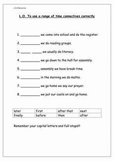 time connectives worksheet by louisacarol teaching resources tes