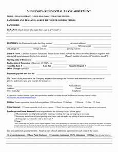 Rent Deposit Mn by Free Minnesota Association Of Realtors Residential Lease