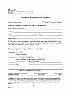 reasonable accommodation request form template editable fillable printable online templates